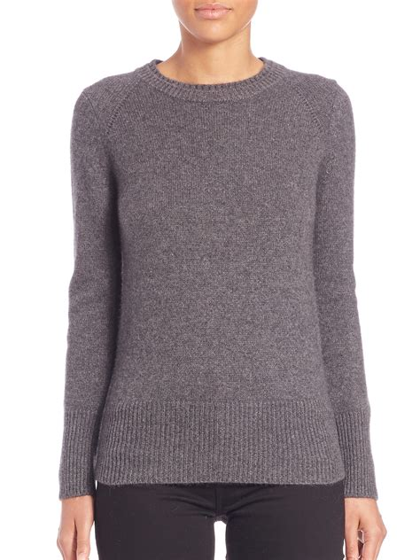 gray knit sweater lyst burberry mid grey knit sweater in gray