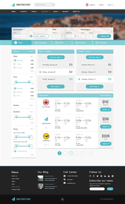 Book Your Flight Booking Template Website Templates On Creative Market Booking Website Template Free
