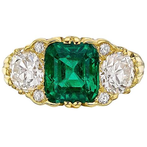 Muzo Emerald 2 48 Carat 3 50 carat emerald gold ring at 1stdibs