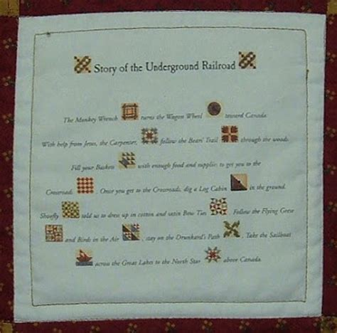 Quilt Pattern Meanings by Treadle Quilts Underground Railroad Miniature Quilt