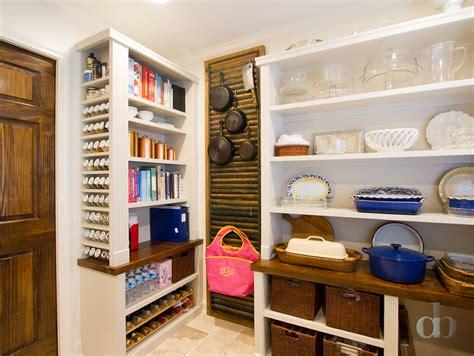 kitchen pantry with beadboard backsplash transitional