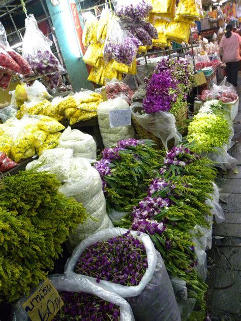 mercato fiori mercato dei fiori bangkok viaggi vacanze e turismo