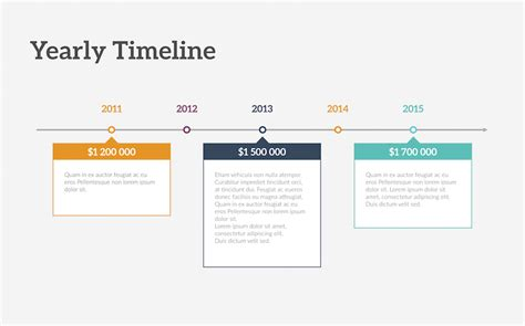 flat roadmap horizontal timelines for powerpoint