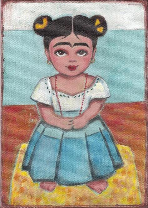 frida kahlo little people 1847807704 frida kahlo original 5x7 painting s room
