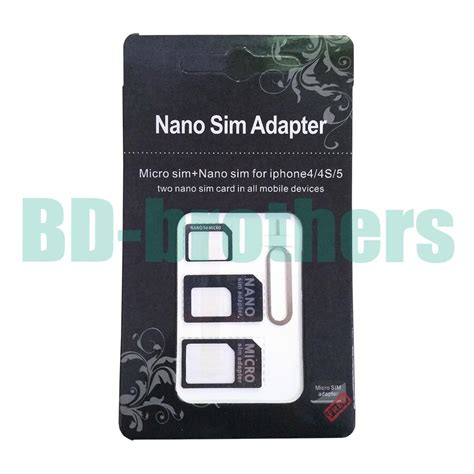 Neo 3 In 1 Nano Sim Card Adapter For Iphone 4 4s 5 Diskon black 4 in 1 nano micro sim card adapter adaptor with eject pin key for iphone 4g 5 5s 5c