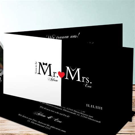 Hochzeitseinladungskarten Ausgefallen by Mr Mrs Moderne Hochzeitseinladungen