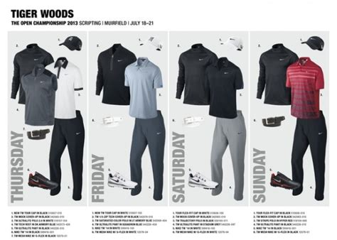 Golf Wardrobe by Nike Golf Unveils Tiger Woods Open Chionship