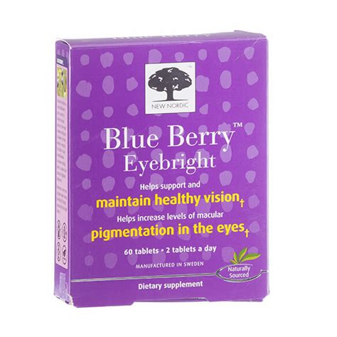 New Nordic Blueberry Eye Bright 60tabs new nordic blue berry eyebright tablets eyebright easy