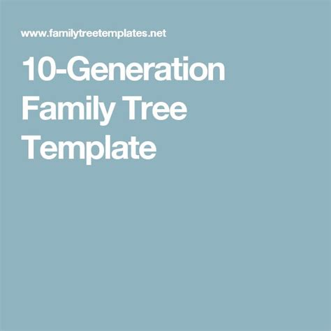 10 generation family tree template 1000 ideas about blank family tree template on