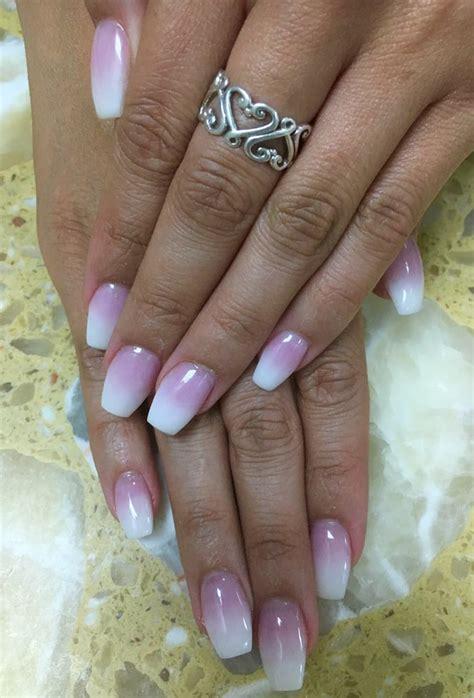 Trisia Powder White Pink White ombr 233 nails with pink n white powder yelp