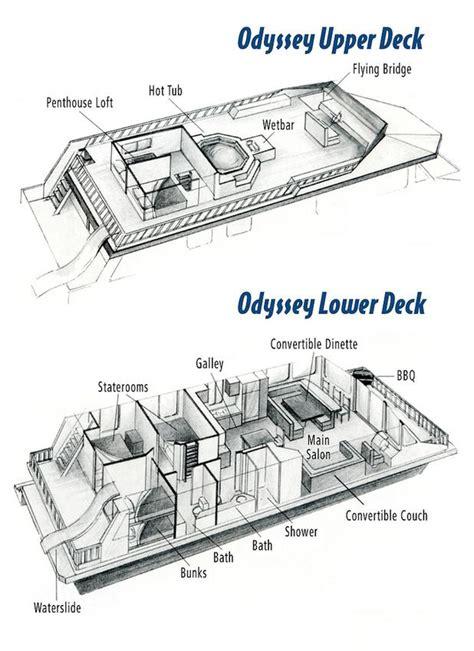 odyssey floor plan odyssey houseboat