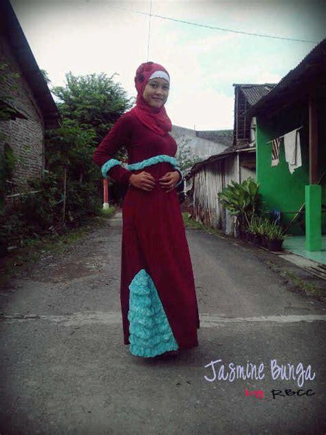 Terlaris Gamis Syari Fatiah Marun Gamis Cantik b marun baju muslim gamis modern