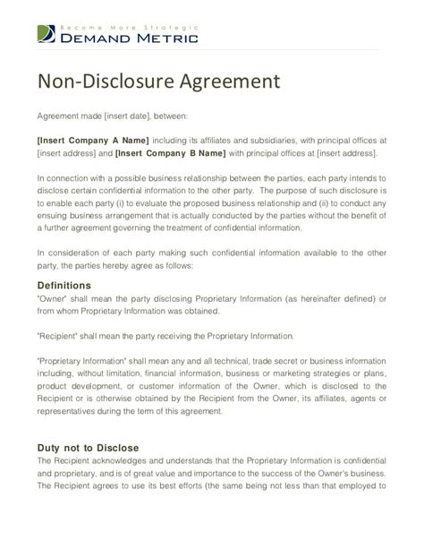 Top 5 Free Non Disclosure Agreement Templates Word Templates Excel Templates Free Non Disclosure Agreement Template California