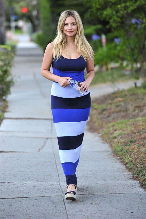 vanessa ray vanessa ray in blue dress 06 gotceleb