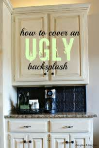How To Kitchen Backsplash by Dimples And Tangles How To Cover An Ugly Kitchen
