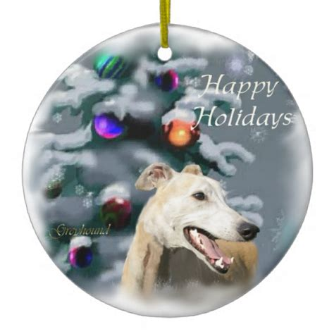 greyhound christmas gifts ornament zazzle