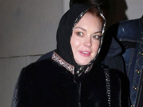Lindsay Lohan Wears A Scarf by Rumour Mills Abuzz As Lindsay Lohan Spotted Wearing
