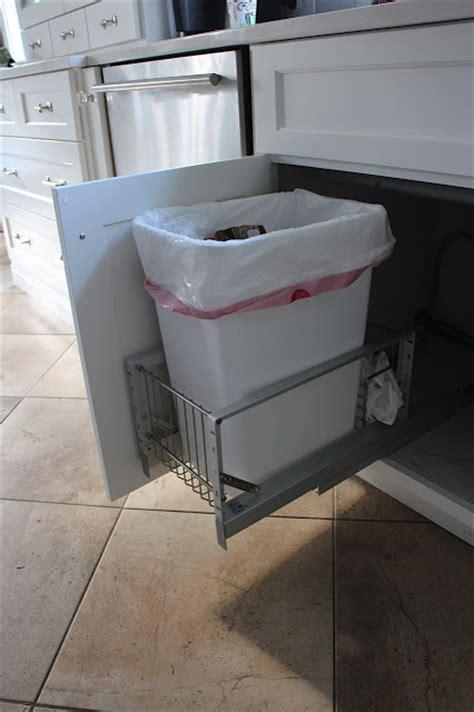 Sink Trash Can Door Mount by The Impatient Gardener Slip Slidin Away To Trash