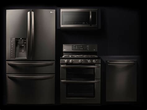 colors with stainless steel appliances discover the lg black stainless steel series featuring a