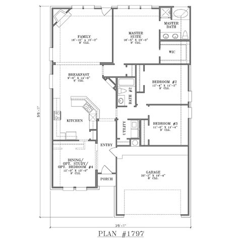 narrow lot plans 30 x 70 house plans