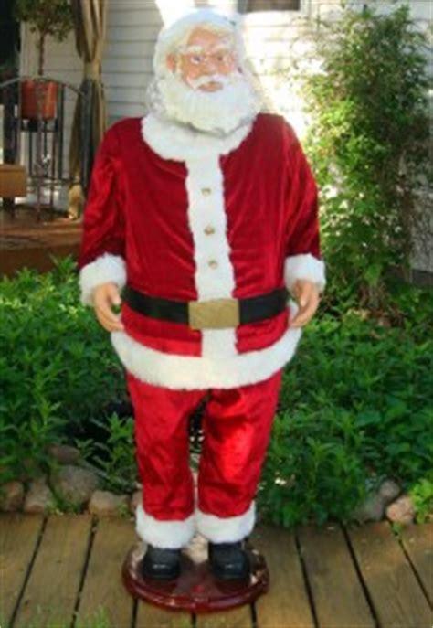 6 ft tall singing santa gemmy 5 ft size singing animated santa claus new ebay