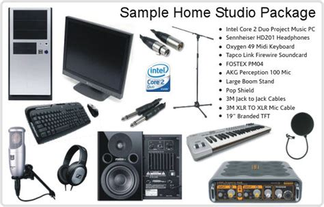 Home Recording Studio Needs Allied Artists Musician S Guide To Home Recording
