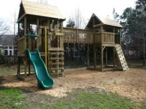 fort swing set plans playset fort plans home gt gt walkway bridge swing set