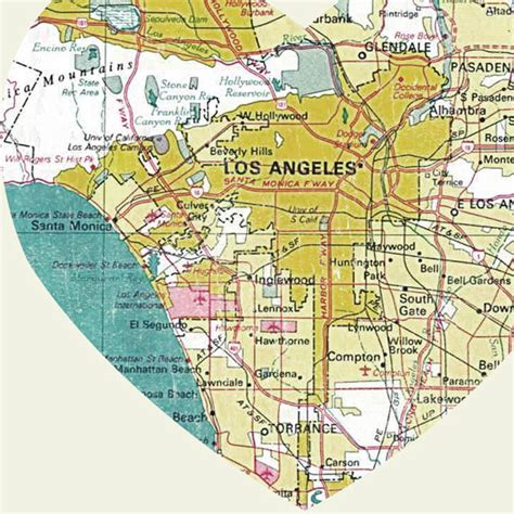 Printable Map Of Los Angeles