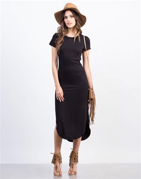 Front Simple Dress simple midi dress black dress day dress 2020ave