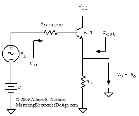 common source lifier resistor values the common collector lifier input and output resistance the proof mastering electronics