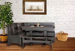 table amish corner breakfast nook set kitchen designs rustic style oak tables