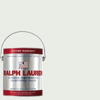 ralph 1 gal polo mallet white flat interior paint rl1051f the home depot