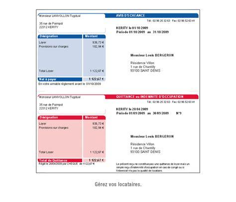 modele quittance de loyer commercial avec tva document