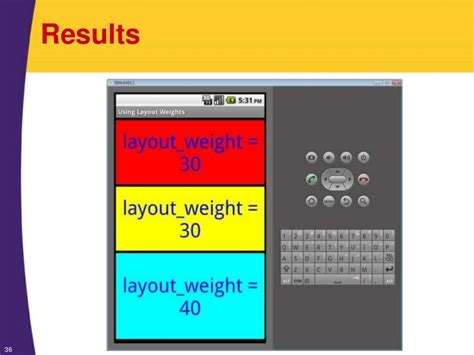 textview layout weight android android tutorial layouts organizing the screen