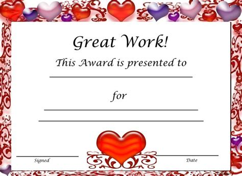 free printable candy award certificates just b cause