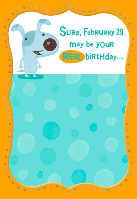 Happy Leap Year Birthday Card   Greeting Cards   Hallmark