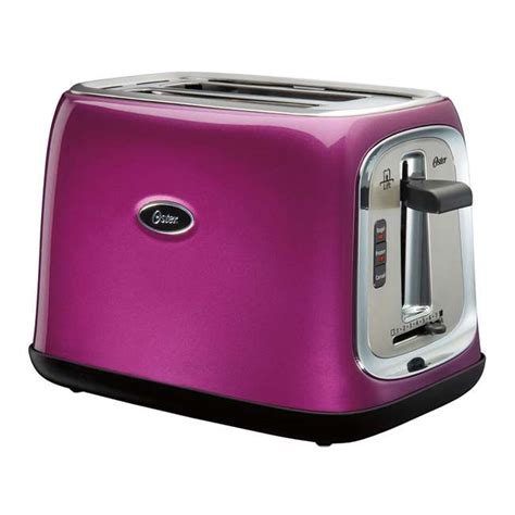 Purple Toaster Oven Oster 2 Slice Toaster Metallic Purple Tssttrjb0p