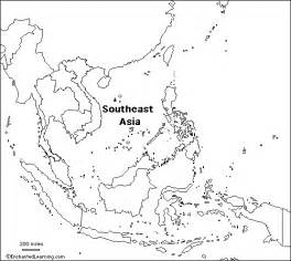 Asia Outline Map by Blank Outline Map Of Southeast Asia Free South