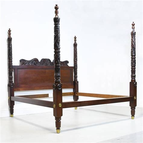 King Size Four Poster Bed Frame Ralph Carved Four Poster King Size Bed In Solid Mahogany At 1stdibs