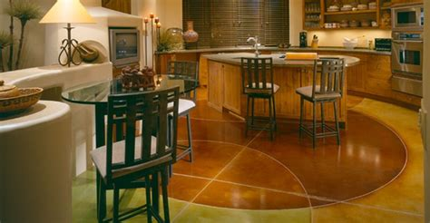 Kitchen Floor   Designs and Benefits of Using Concrete