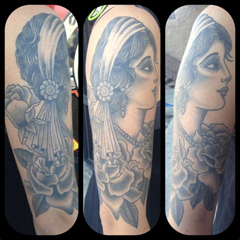 black and grey traditional tattoo black and grey gypsy tattoos www imgkid com the image