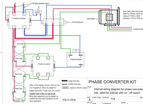 wiring diagram for 3 phase converter wiring get free