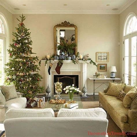 christmas home decoration ideas 55 warm christmas living room d 233 cor ideas family holiday