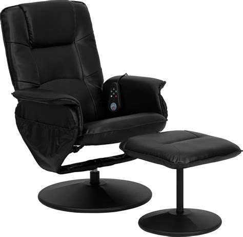 flash furniture recliner flash furniture massaging black leather recliner ottoman