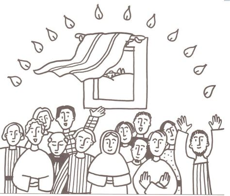 free coloring pages of pentecost flames