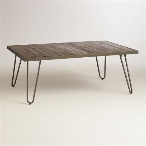 Rectangle Wood Coffee Table by Rectangular Wood Hairpin Coffee Table World Market
