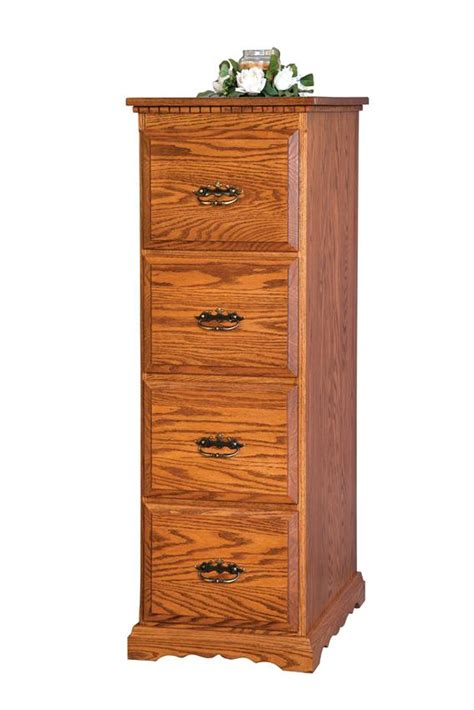 amish four drawer file cabinet