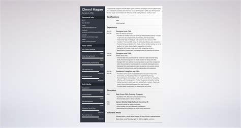 caregiver resume sample writing guide resume genius