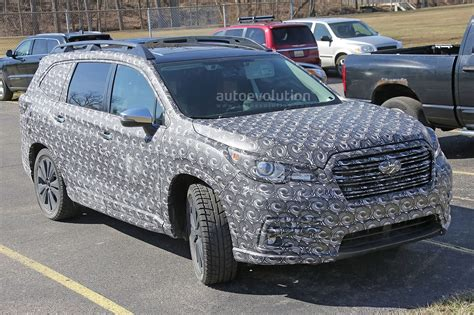 New Subaru Crossover 2018 by 2018 Subaru Ascent 3 Row Crossover Suv Spied In Detail