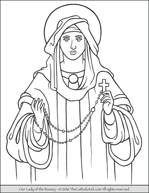 our lady of lourdes coloring pages printable coloring pages